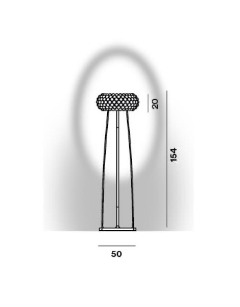 foscarini lampara de pie caboche grande