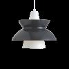 Louis Poulsen lámpara de suspensión DOO-WOP 60W E27 GRIS OSCURO