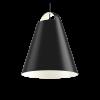 Louis Poulsen lámpara de suspensión ABOVE 550 100W E27 negro