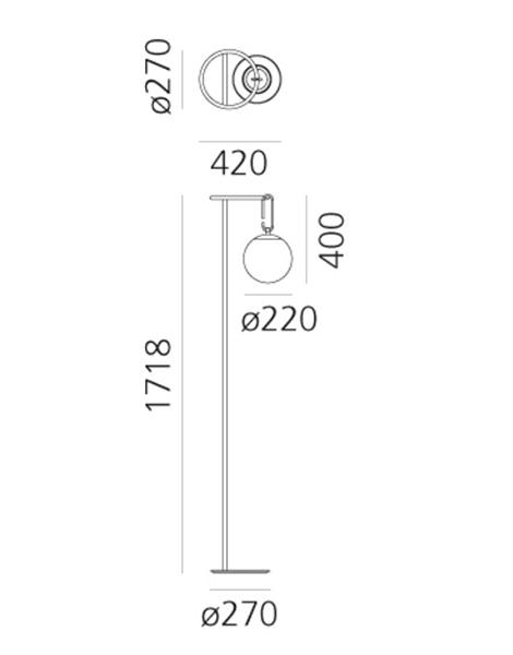 medidas lampara artemide nh terra